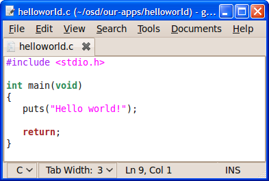 Source code is text, so any text editor will do...